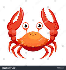 red crab sea creature colorful cartoon stock vector 622513136