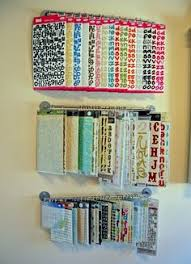 Storage Solutions For Craft Rooms - a paper towel holder with page protectors attached by binder rings
