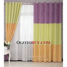Buy Discount Curtains Green And Orange Simple Chic Casual Discount Purple Curtains Buy