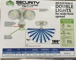 home zone security led motion light security systems costco 767697 home zone security motion activated