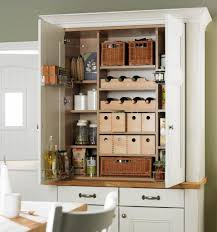 Kitchen Freestanding Pantry Cabinets Pantry Cabinet Home Depot Stick Countertops Five Shelves Wood