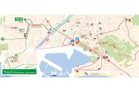 Green Line Map Hop On Hop Off Bus Tour Malaga City Sightseeing