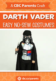 easy no sew halloween costume darth vader play cbc parents