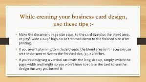 Tips For Designing A Business Card How To Make Perfect Business Card For Your Company