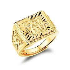 big fashion rings images Trendy gold ring men fuk side drawing male wedding engagement open jpg