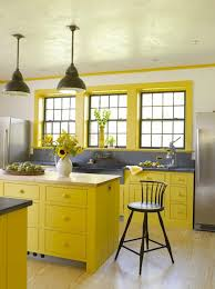 15 bright yellow kitchens that will make you smile brit co