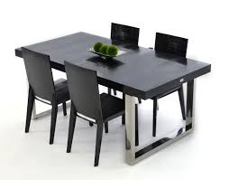 Black Modern Dining Room Sets Skyline Modern Black Crocodile Lacquer Dining Table