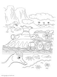 free dinosaur train coloring