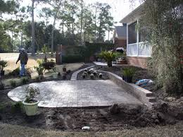 Paver Patios With Fire Pit by Paver Patio With Firepit In Pawleys Island Creative Landscapes
