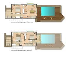 Plan De Maison En Longueur Plan Maison Avec Piscine Intérieure