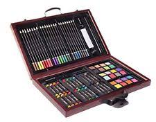 art set sketch oil pastel pencil drawing kit professional wooden