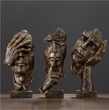 Decorative Sculptures For The Home Gift Resin Abstract Craft Figurines Decorative Sculptures Human