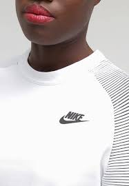 nike sportswear sweatshirt white black women clothing jumpers