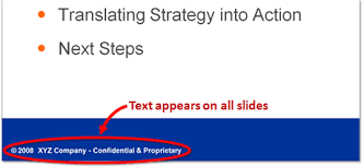 powerpoint templates beware of the footers powerpoint ninja