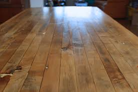 november 2014 to protect the table top and us dave used watco butcher block oil and finish