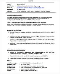 Sample Resume Website by Web Developer Resumes Front End Web Developer Resume Example
