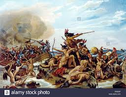 1600s early armored european explorers fighting with native