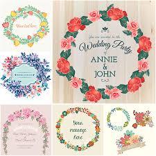 Invitation Card Design Software Free Download Wedding Floral Wreath Vector Set Free Download