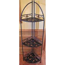 Kitchen Bakers Rack Cabinets Furniture Beautiful Kitchen Corner Bakers Rack With Leaves Design