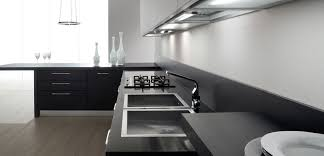 black and white kitchen designs cool functional minimalist