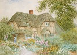 a surrey cottage painting by arthur claude strachan