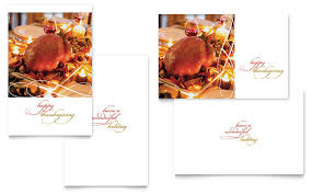 happy thanksgiving greeting card template word u0026 publisher