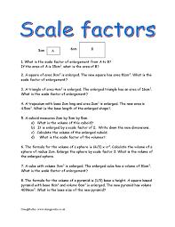 geometry scale factor worksheet worksheets