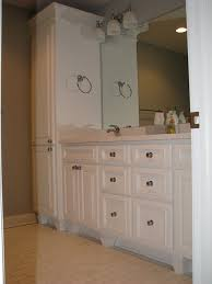Linen Cabinet For Bathroom Bathroom Vanity With Linen Cabinet Bath Laundry Cabinets