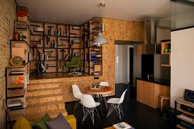 Loft Apartment Design by Small Square Loft Apartment With Efficient Layout And Smooth