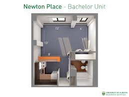 floorplan with dimensions for bachelor units in newton place