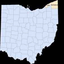 Ohio Map With Cities by Ashtabula Lake Are Ohio U0027s Largest And Smallest Counties By Area