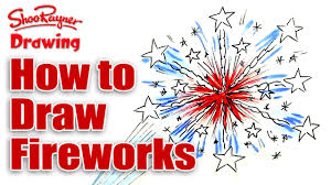 how to draw fireworks for the 4th of july youtube