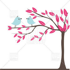 couples of birds on autumn tree royalty free vector clip image