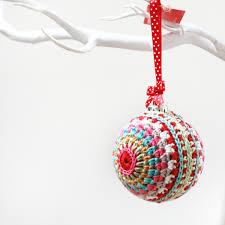 crochet bauble decoration beautiful contemporary crochet