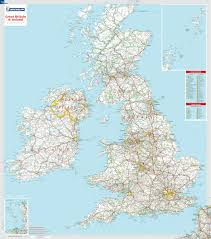 map of uk great britain ireland wall map michelin maps guides