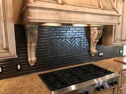 classic kitchen backsplash project by custom creations morris we were happy to work with custom creations to design an elegant backsplash for this kitchen remodel