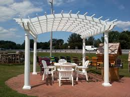 buy this beautiful white vinyl pergola will add beauty to your