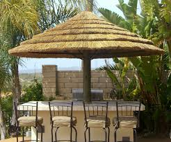 Patio Bar With Umbrella Africa Thatch Reed Umbrella Kit 7 1 2 U0027 Backyard X Scapes Offers