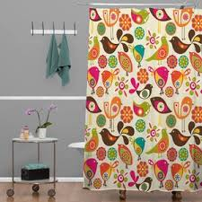 Bird Shower Curtains Vintage Bird Shower Curtain Wayfair