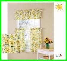 Sunflower Valance Curtains Sunflower Kitchen Curtains Ebay