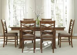 applewood 7 piece trestle table set rotmans dining 7 or more