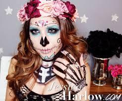 best halloween makeup for sugar skull mexican sugar skull makeup tutorial day of the dead mugeek