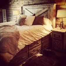 4 piece distressed barndoor 12 drawer platform bed price starting at