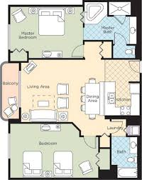 2 Bedroom Condo Floor Plan Ocean Walk Resort U2013 Floorplans