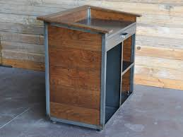 Industrial Reception Desk by Karl Hostess Stand Restaurant Hostess Vintage Industrial And