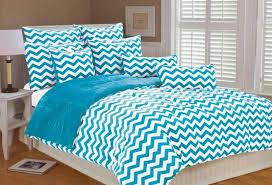 Machine Washable Comforters Chevron Bedding Set Queen Turquoise White Comforter Reversible