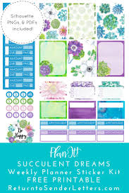 free printable planner templates best 25 free printable stickers ideas on pinterest printable free printables succulent dreams weekly planner sticker kit includes png pdf studio3