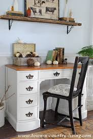 how to refinish a desk painted desk in varnished ivory town country living
