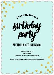 birthday invitations 18th birthday invitations from purpletrail