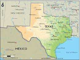 Dallas Texas On Map by Geographical Map Of Texas And Texas Geographical Maps